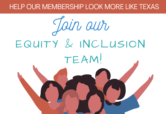 At Brazos Valley SCBWI, we are working to create an Equity and Inclusion team to help our membership better reflect the diversity of Texas and the Brazos Valley. If you are interested in joining our team, please email brazosvalley-ra @ scbwi.org . The Equity and Inclusion team will receive trainings and support from SCBWI HQ and SCBWI's Equity and Inclusion officer, April Powers. We invite you to check out SCBWI's EI Resource Library here. SCBWI Statement of Intent on Equity and Inclusion At SCBWI, we recognize that publicly committing to equity and inclusion is crucial to our membership and the readers we serve. Words, stories, and images are powerful: They define who we are for ourselves and for others. Historically, content creation that reaches a wide audience of children and teens has been intertwined with a legacy of privilege, oppression, bias, and racism. We acknowledge that, as part of the children's publishing industry, we share in that legacy.   We accept the challenge and responsibility of becoming agents of change by affirming the need for increased representation in every facet of the children's and YA book industry, including but not limited to race/ethnicity, disability, sexual orientation, gender and gender identity (including gender expression), socioeconomic status, caste, geography, citizenship, body size, veteran status, and religion. To fulfill our mission of supporting the creation and availability of quality books for every young reader in all regions of the world, we commit to championing equity and inclusion throughout our organization by striving to:   –identify and dismantle inequities within our policies and practices –expand inclusivity in our leadership, membership, and volunteer corps –increase the social consciousness of our members through substantive learning opportunities –continually examine and renew that commitment in our events, programming, online initiatives, publications, awards and grants, community outreach, and education efforts   As creators of books for children and teens, we have both a unique responsibility and a powerful opportunity to help young people create an equitable, inclusive world. We look forward to listening, learning, and leading. For more information, please click here.