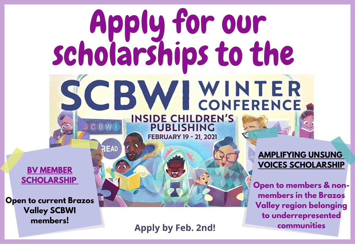 BV SCBWI Scholarships for winter conference